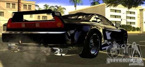 Acura NSX Tuned для GTA San Andreas вид сзади