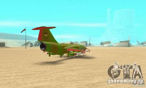 F-104 Super Starfighter(зелёного цвета) для GTA San Andreas вид слева