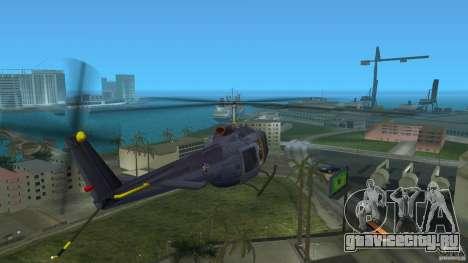 Maverick Bell-Huey для GTA Vice City вид сзади слева
