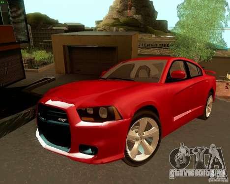 Dodge Charger SRT8 2012 для GTA San Andreas вид сверху