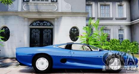 Jaguar XJ 220 для GTA 4 вид слева
