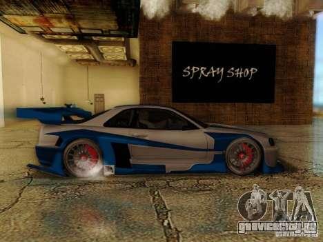 Nissan Skyline GTR34 DTM для GTA San Andreas вид сзади слева
