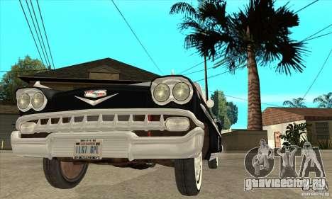 Chevrolet Impala 1958 для GTA San Andreas вид сверху