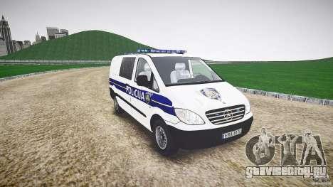 Mercedes Benz Viano Croatian police [ELS] для GTA 4 вид сзади