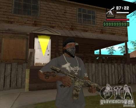 M4A1 Camo для GTA San Andreas второй скриншот