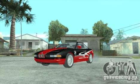 BMW 850i для GTA San Andreas вид сзади слева