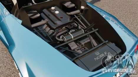 Noble M600 Bicolore 2010 для GTA 4 вид изнутри