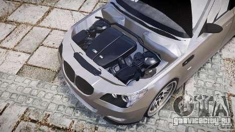 BMW E60 M5 2006 для GTA 4 вид сзади