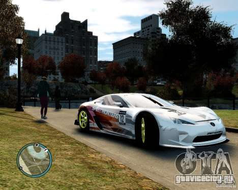 Lexus LFA Speedhunters Edition для GTA 4 вид сзади