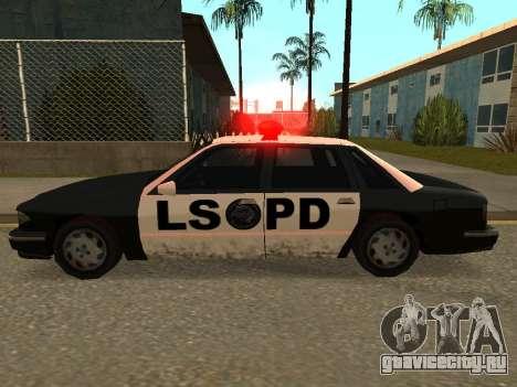 Police Los Santos для GTA San Andreas вид слева