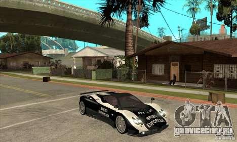 Pagani Zonda F Speed Enforcer BETA для GTA San Andreas вид сзади