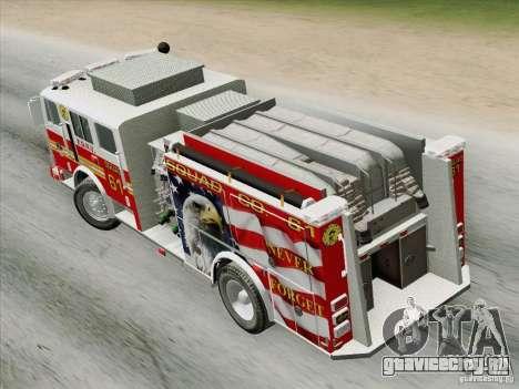Seagrave Marauder. F.D.N.Y. Squad 61. для GTA San Andreas вид сзади
