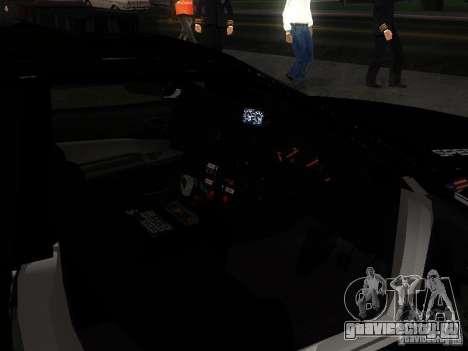 Nissan Skyline R34 Police для GTA San Andreas вид сверху
