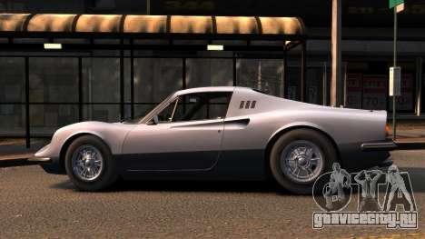 Ferrari Dino 246 GTS 1972 для GTA 4 вид слева