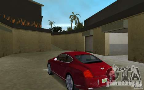 Bentley Continental GT (Final) для GTA Vice City вид сзади слева