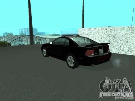 Ford Mustang GT Police для GTA San Andreas вид слева