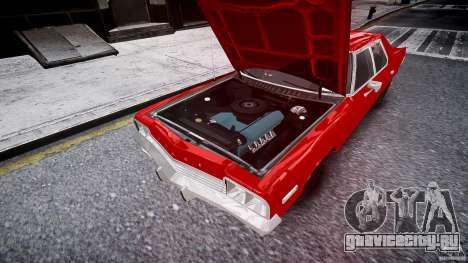 Dodge Monaco 1974 stok rims для GTA 4 вид сверху