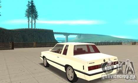 Dodge Aries 1983 для GTA San Andreas вид сзади слева