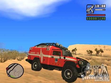 HZS Hummer H2 для GTA San Andreas вид слева