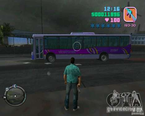 Marcopolo Bus для GTA Vice City вид слева