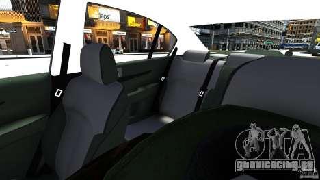 Subaru Legacy B4 для GTA 4 вид изнутри