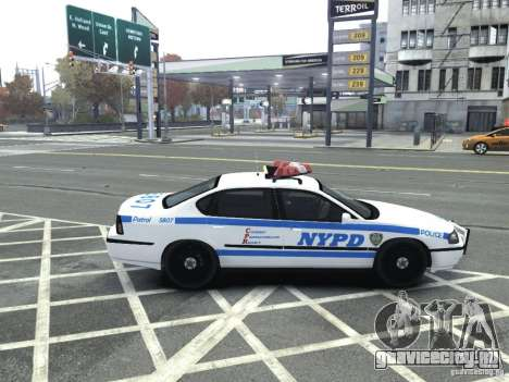 Chevrolet Impala NYCPD POLICE 2003 для GTA 4 вид справа