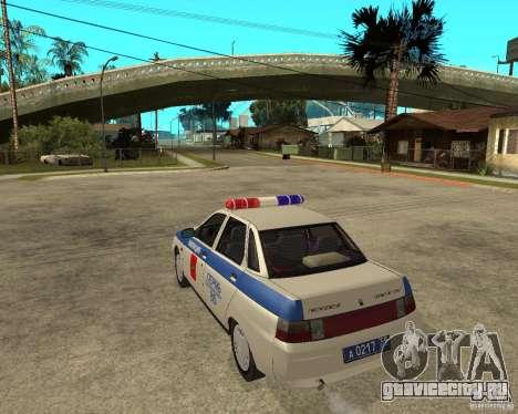 ВАЗ 21103 ДПС для GTA San Andreas вид слева