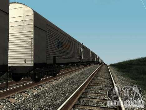 Рефрежираторный вагон Дессау №5 Балтинвест для GTA San Andreas вид слева