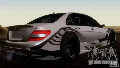 Mercedes Benz C-Class Touring 2008 для GTA San Andreas вид сзади слева