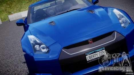 Nissan GT-R R35 2010 v1.3 для GTA 4 двигатель
