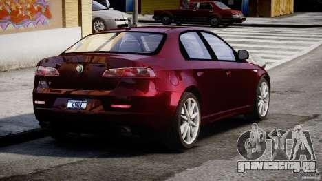 Alfa Romeo 159 Li для GTA 4 вид сзади слева