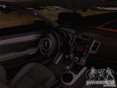 Kia Forte Koup SX для GTA San Andreas вид изнутри