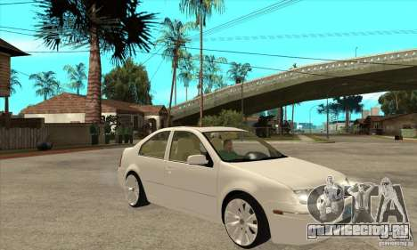 Volkswagen Bora VR6 4MOTION для GTA San Andreas вид сзади