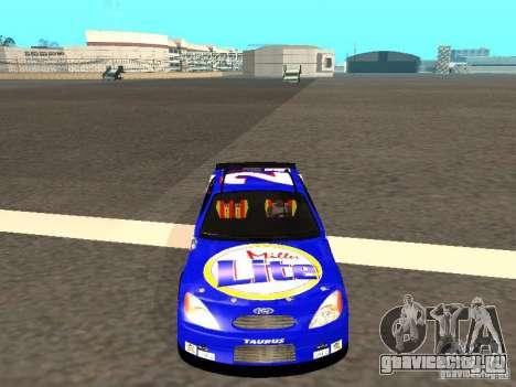 Ford Taurus Nascar LITE для GTA San Andreas вид сзади