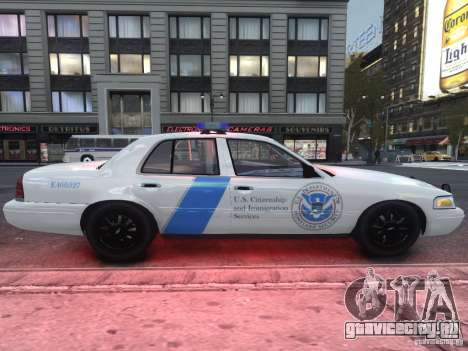 Ford Crown Victoria Homeland Security для GTA 4 вид сзади