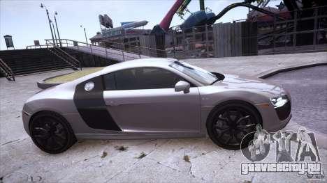 Audi R8 V10 для GTA 4 вид справа
