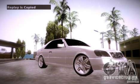 Mercedes-Benz 600SEC для GTA San Andreas вид справа