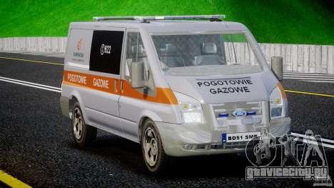 Ford Transit Usluga polski gazu [ELS] для GTA 4 вид справа