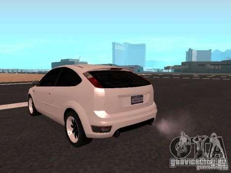 Ford Focus II для GTA San Andreas вид сзади слева