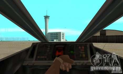 X-WING v1 из Star Wars для GTA San Andreas вид сзади