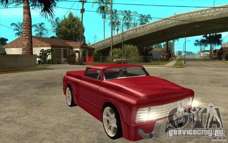 Slamvan Custom для GTA San Andreas вид сзади