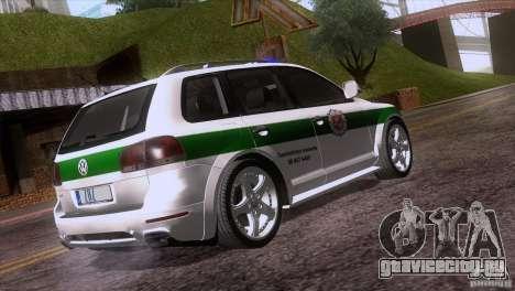 Volkswagen Touareg Policija для GTA San Andreas вид сзади