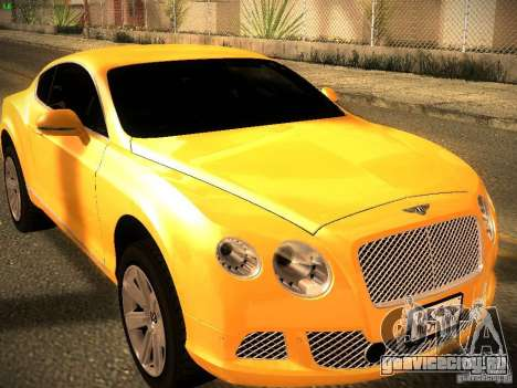 Bentley Continental GT 2011 для GTA San Andreas вид справа