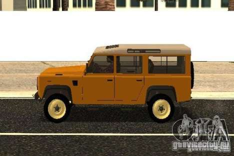 Land Rover Defender 110 для GTA San Andreas вид слева