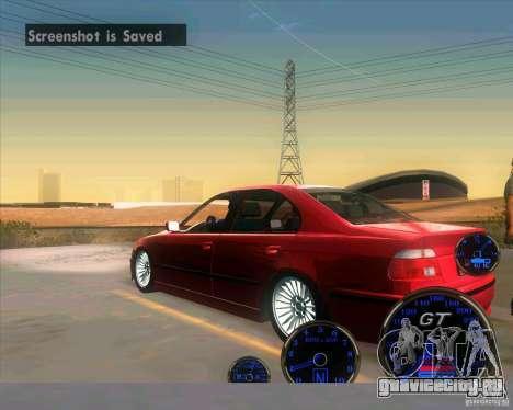 BMW E39 530d Sedan для GTA San Andreas вид сзади слева