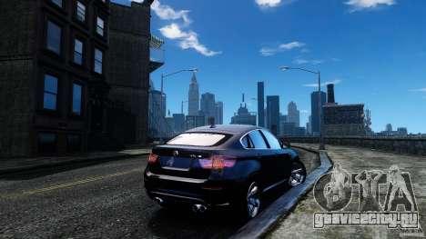 BMW X6 2013 для GTA 4 вид сзади слева