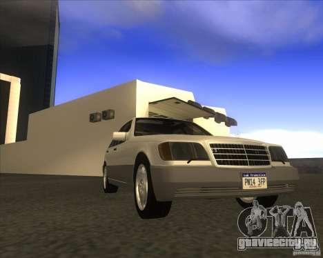 Mercedes Benz 400 SE W140 для GTA San Andreas вид сзади слева
