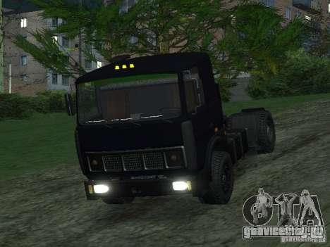 МАЗ 5432 для GTA San Andreas вид сзади слева