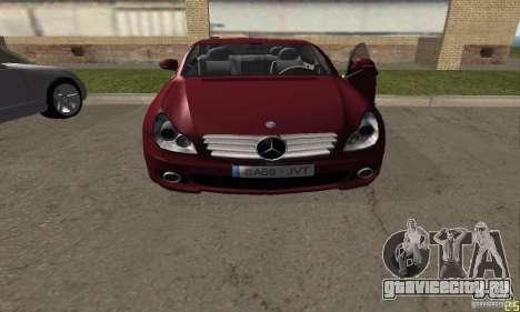 Mercedes-Benz CLS500 v2 для GTA San Andreas вид сзади слева