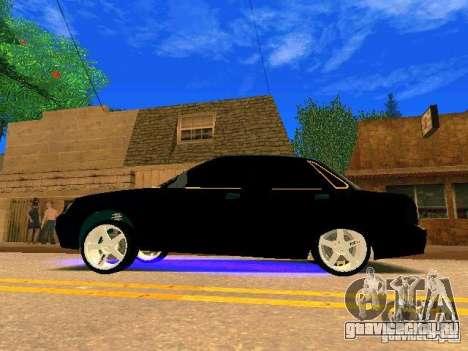 ВАЗ 2170 Приора Gold Edition для GTA San Andreas вид изнутри